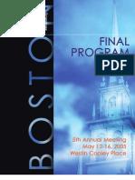FOCIS Program May 2005