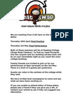 BeatSwap Performance Invitation 2011/12