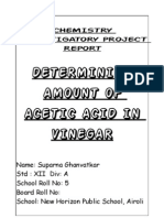 CHEMISTRY INVESTIGATORY PROJECT of Class XII
