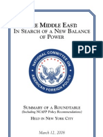 08 Middle East- In Search of a New Balance of Power