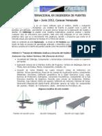 Programacion Final Diplomado Internacional en Ingenieria de Puentes 2012 Caracas