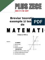 Breviar Teoretic Testare Nationala Cls 8 Geometrie