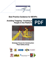 Best Guidance for MEWPS Avoiding Trapping an Crushing Injuries
