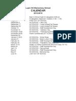 Calendar 2012 to 2013