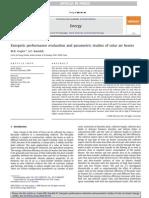 Exergetic Performance Evaluation and Parametric Studies of Solar Air Heater - M.K. Gupta_ S.C. Kaushik