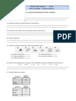 Ficha de Trabalho Formulas Quimicas