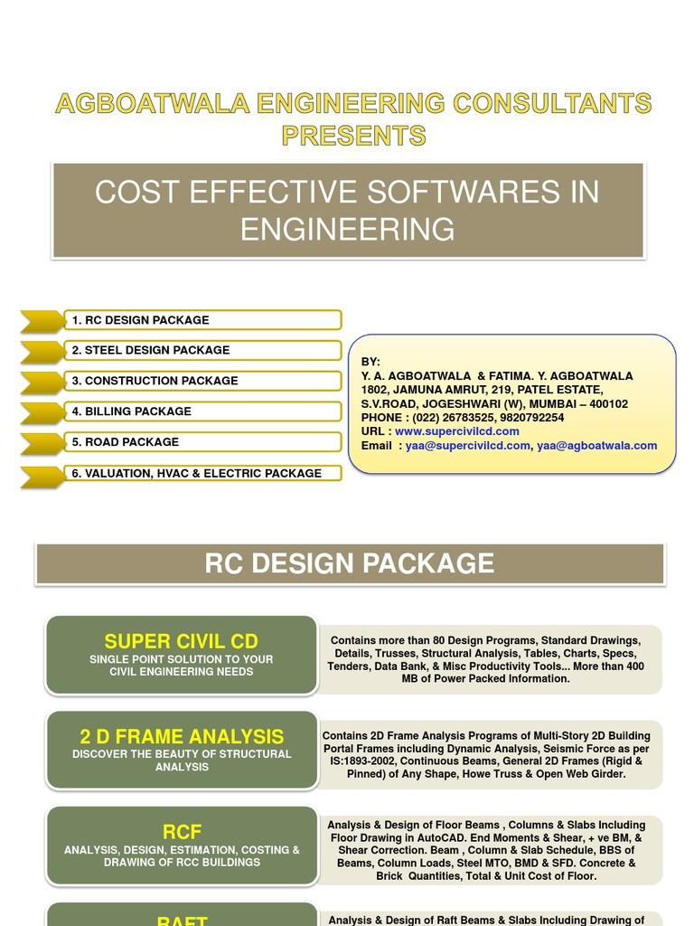 Civil Engineering Softwares List Super Civil CD | Structural
