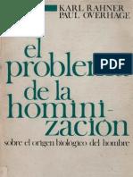 66982024 Rahner Karl El Problema de La Hominizacion