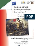 Programme Démocratie CERCOP 24 25 mai 2012