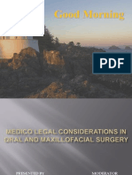 Medico Legal Considerations in Oral and Maxillofacial Surgery