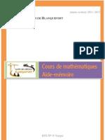Formulaire de mathématiques bts_tp 2011