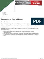 Formatting an External Device - Mac Guides