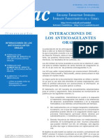 Interacciones de Anticoagulantes Orales