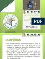 METODOLOGÍA DE LA INVESTIGACIÓN (LA HIPOTESIS)