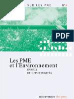 PME Et l Environnement