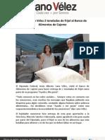 04-05-12 Entrega Cano Vélez 2 toneladas de frijol al Banco de Alimentos de Cajeme