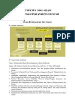 Struktur dan Tupoksi Instansi Pemerintah
