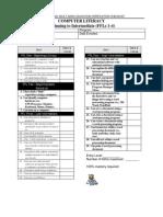 Computer Literacy Verification Checklist
