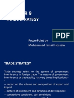 Chapter 9- Trade Strategy