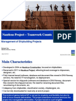 Nauticus Project - A Tool for Management of Shipbuilding Projects