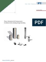 2009 PI Piezo Actuators Components Nano Positioning Catalog
