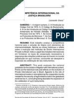 A competência internacional da Justiça Brasileira - Leonardo Greco