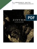 Zinumm Lobishome Promo Sheet