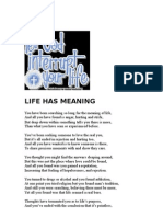 LIFE HAS MEANING   ( Gospel tract)