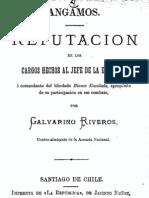 Angamos. Refutación de los cargos hechos al Jefe de la Escuadra i Comandante del blindado........(1882)