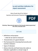 Food Security and Nutrition Indicators for Impact Assessment