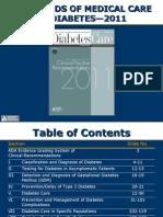 ADA Standards of Medical Care 2011