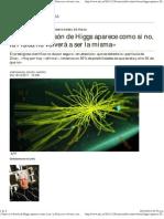 «Tanto si el bosón de Higgs aparece como si no, la Física no volverá a ser la misma» - ABC