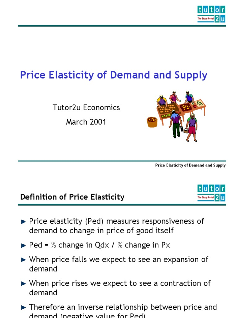 Elasticity Ppt Demand Price Elasticity Of Demand