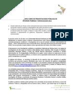 Comunicado1 Presentaciones Informe no 2011
