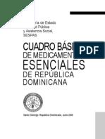 Cuadro Basico de Medicamentos Esenciales RD