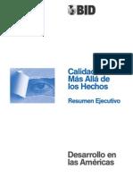CALIDAD DE VIDA MÁS ALLÁ DE LOS HECHOS