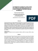 CBR vs Deflectometro de Impacto Para Determinar El Modulo de Resiliencia en La Sub Rasante