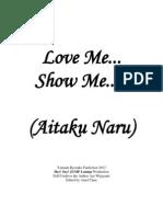 Love Me... Show Me..... (Yamada Ryosuke Fan Fiction)