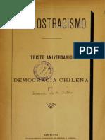 Del Ostracismo Triste Aniversario de La Democracia Chilena. (1892)