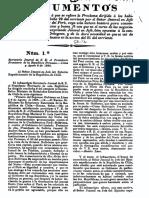 Documentos de la Guerra contra la Confederación Perú-boliviana N°1 al 11 (6 al 15.Ago.1838). (1838)