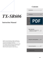 Onkyo TX-SR606 AV Receiver Instruction Manual