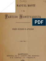 Don Manuel Montt y El Partido Monttvarista (1880)
