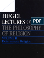 HEGEL,G.W.F.- Lectures on the Philosophy of Religion Volume II DETERMINATE RELIGION Berlin 1821 1831 Peter Hodgson Berkeley Los Angeles London 1987