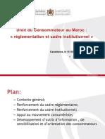 « Droit du consommateur au Maroc réglementation et cadre institutionnel »