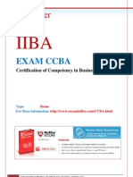 CCBA IIBA Questions and Answers