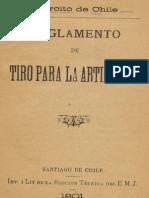 Ejército de Chile. Reglamento de Tiro para la Artillería. (1901)