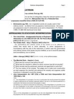 Exam Notes - Statutory Interpretation