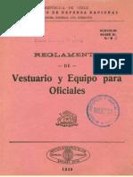 Ejército de Chile. Reglamento de vestuario y equipo para oficiales. (1939)