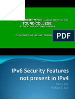 William Lee 376232_IPv6 Security Features Not Present in IPv4