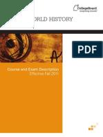 AP WorldHistoryCED Effective Fall 2011
